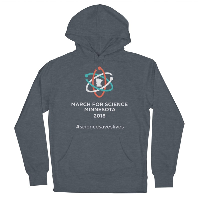 March for Science (Logo + Words) Women's French Terry Pullover Hoody by March for Science Minnesota Swag