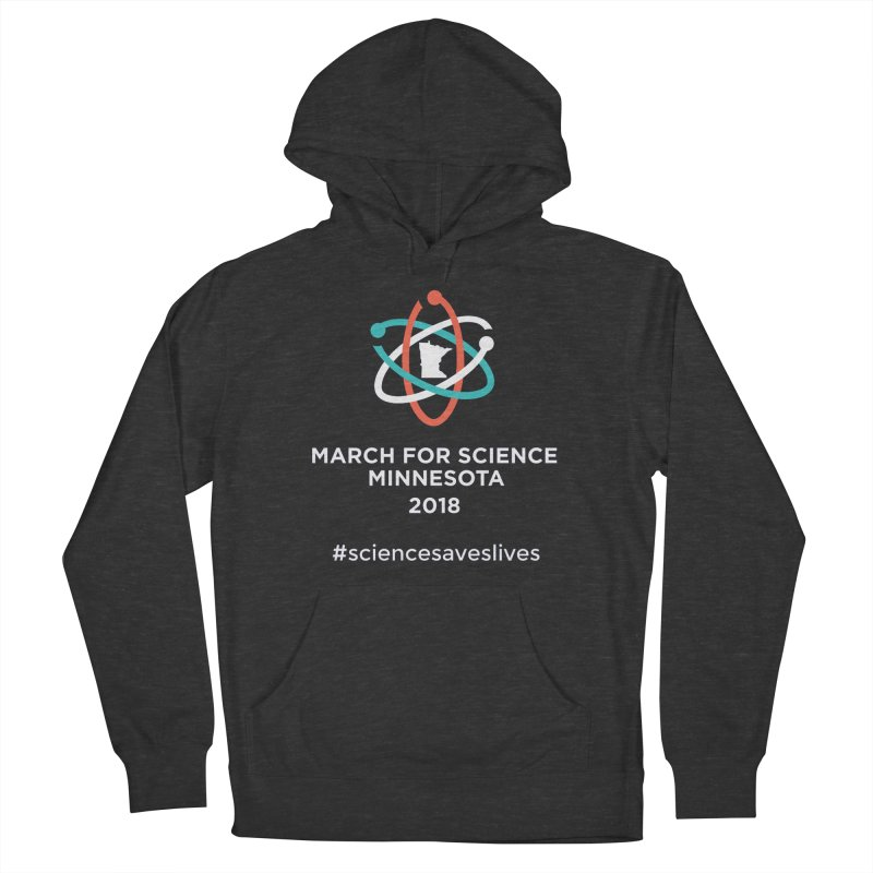 March for Science (Logo + Words) Men's Pullover Hoody by March for Science Minnesota Swag