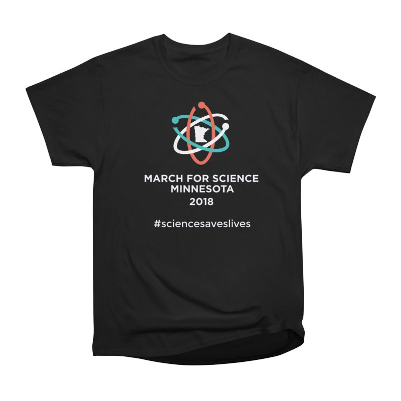 March for Science (Logo + Words) Women's Heavyweight Unisex T-Shirt by March for Science Minnesota Swag
