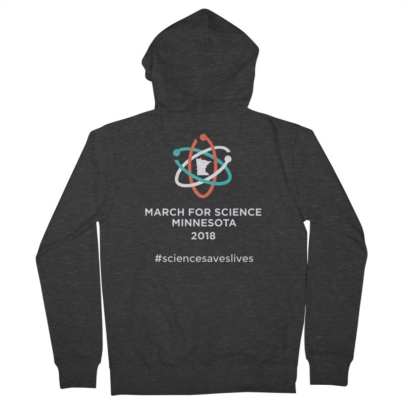 March for Science (Logo + Words) Women's French Terry Zip-Up Hoody by March for Science Minnesota Swag