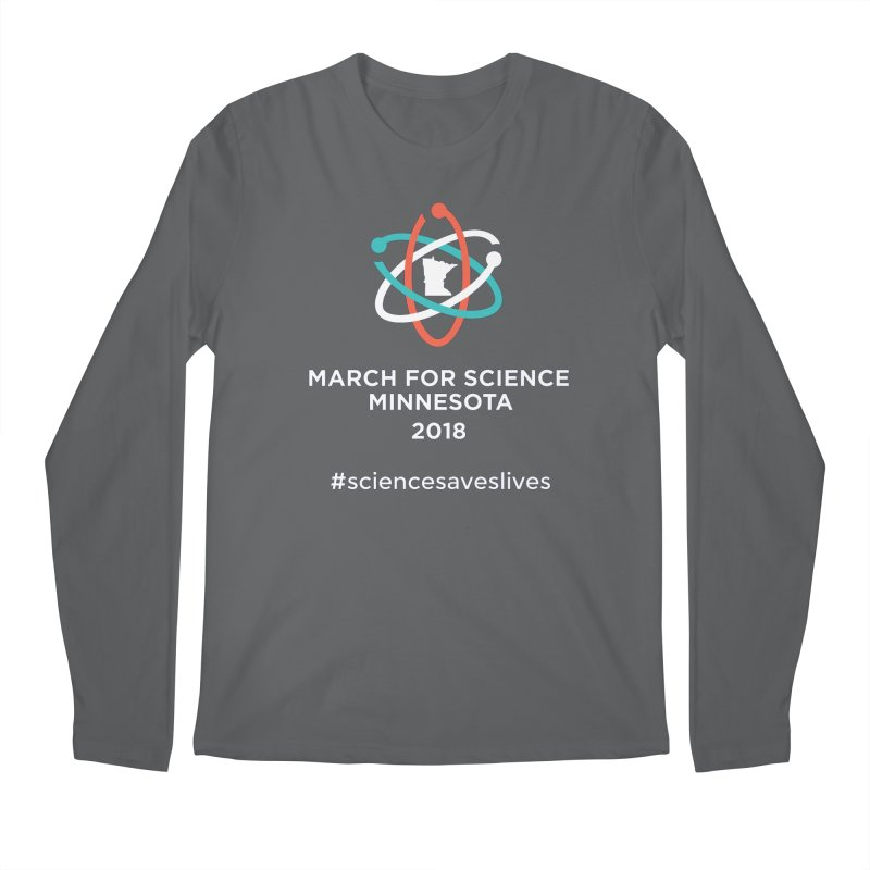 March for Science (Logo + Words) Men's Longsleeve T-Shirt by March for Science Minnesota Swag