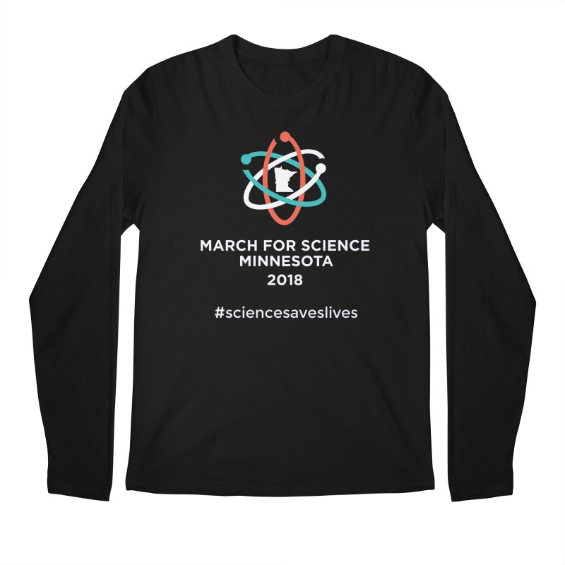 March for Science (Logo + Words) Men's Regular Longsleeve T-Shirt by March for Science Minnesota Swag