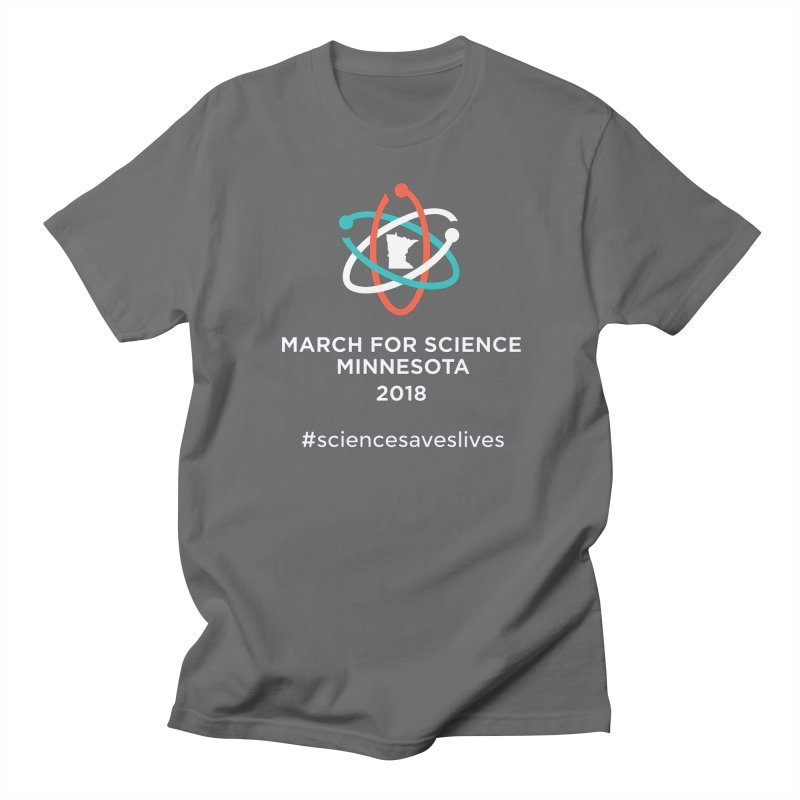 March for Science (Logo + Words) Men's T-Shirt by March for Science Minnesota Swag