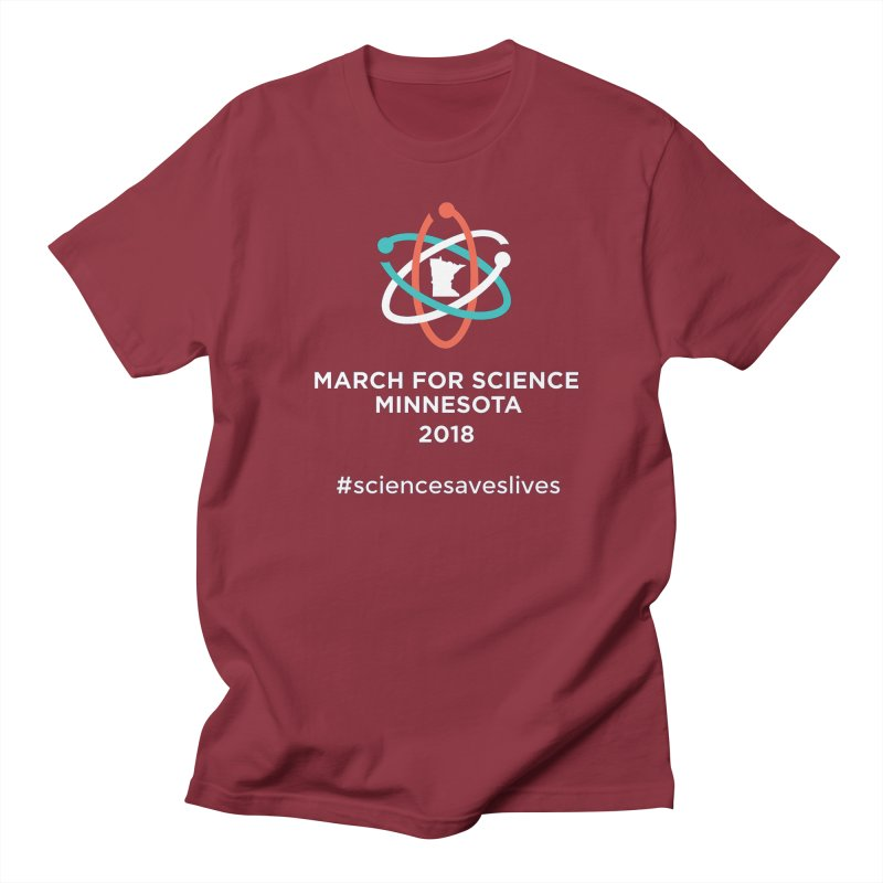 March for Science (Logo + Words) Men's Regular T-Shirt by March for Science Minnesota Swag