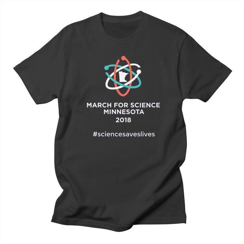 March for Science (Logo + Words) Women's Regular Unisex T-Shirt by March for Science Minnesota Swag