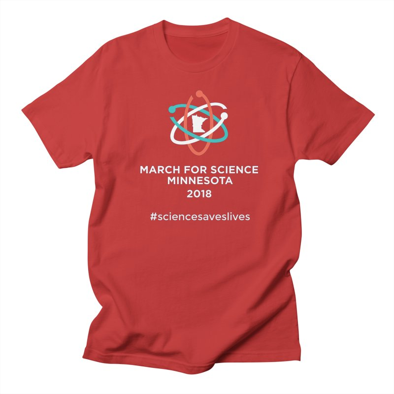 March for Science (Logo + Words) Women's Unisex T-Shirt by March for Science Minnesota Swag