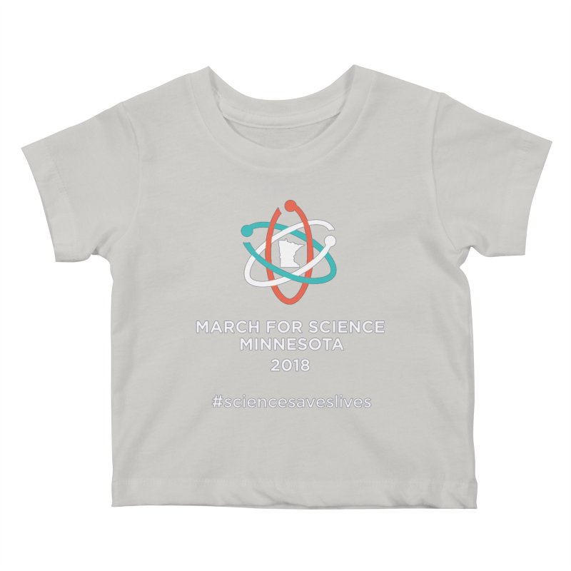 March for Science (Logo + Words) Kids Baby T-Shirt by March for Science Minnesota Swag