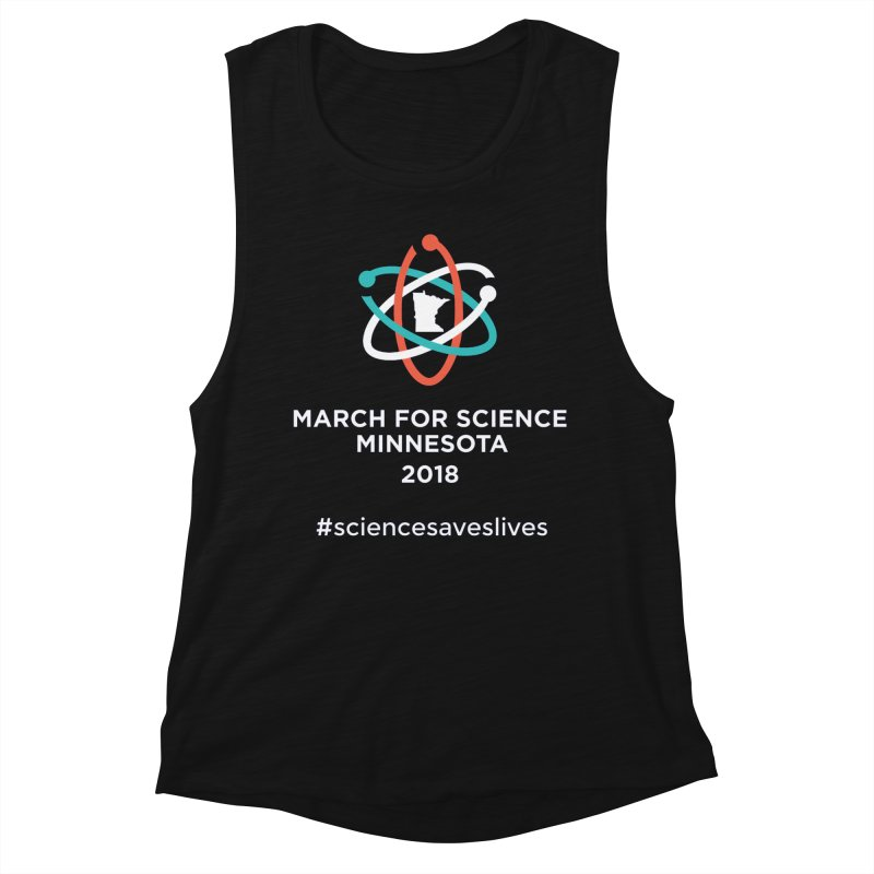 March for Science (Logo + Words) Women's Tank by March for Science Minnesota Swag