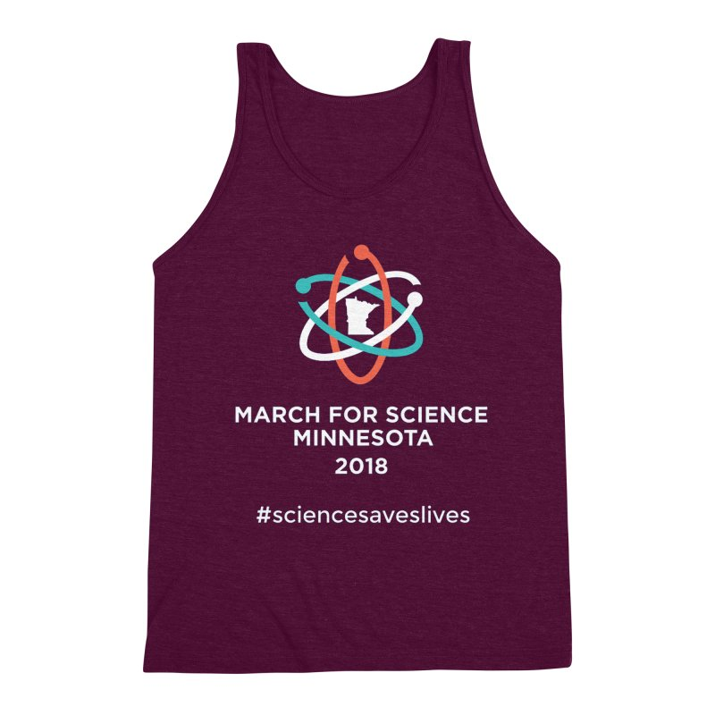 March for Science (Logo + Words) Men's Triblend Tank by March for Science Minnesota Swag