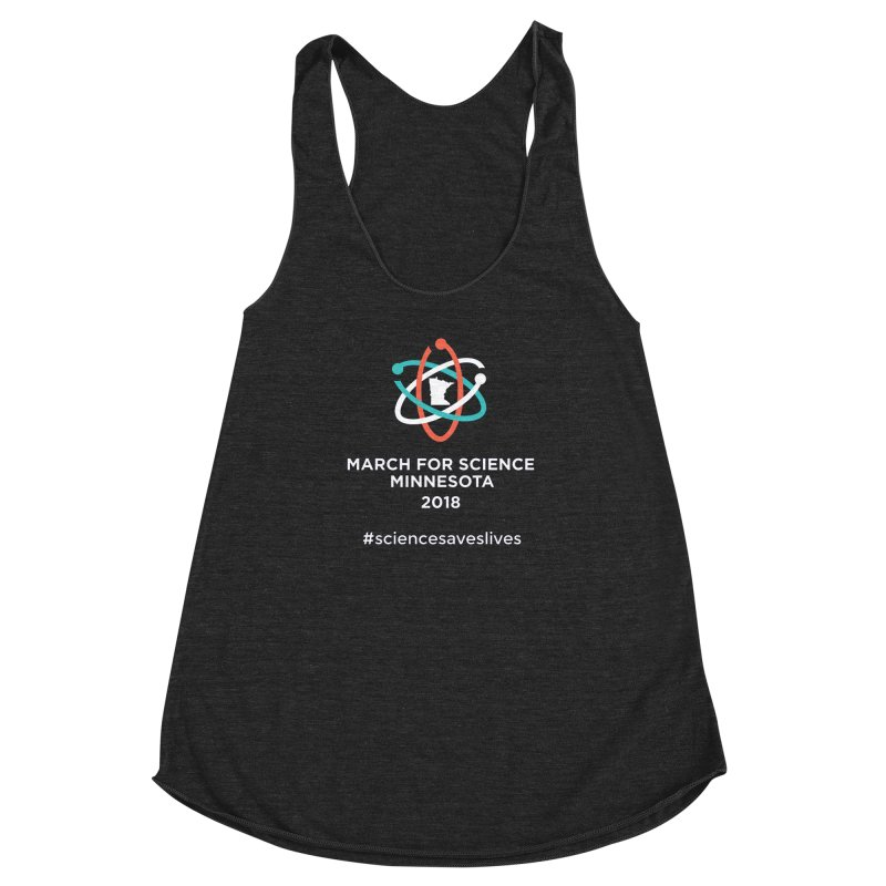 March for Science (Logo + Words) Women's Racerback Triblend Tank by March for Science Minnesota Swag