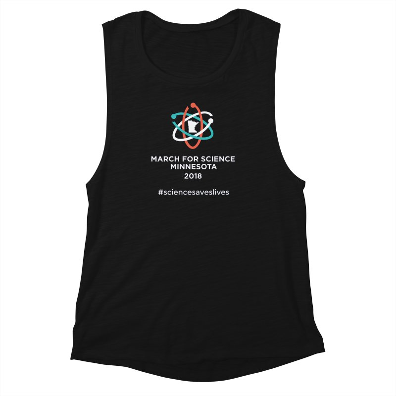 March for Science (Logo + Words) Women's Muscle Tank by March for Science Minnesota Swag