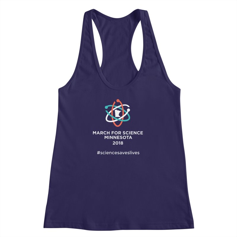 March for Science (Logo + Words) Women's Racerback Tank by March for Science Minnesota Swag
