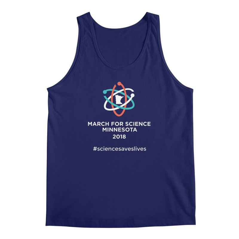 March for Science (Logo + Words) Men's Tank by March for Science Minnesota Swag