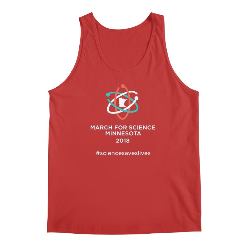 March for Science (Logo + Words) Men's Regular Tank by March for Science Minnesota Swag