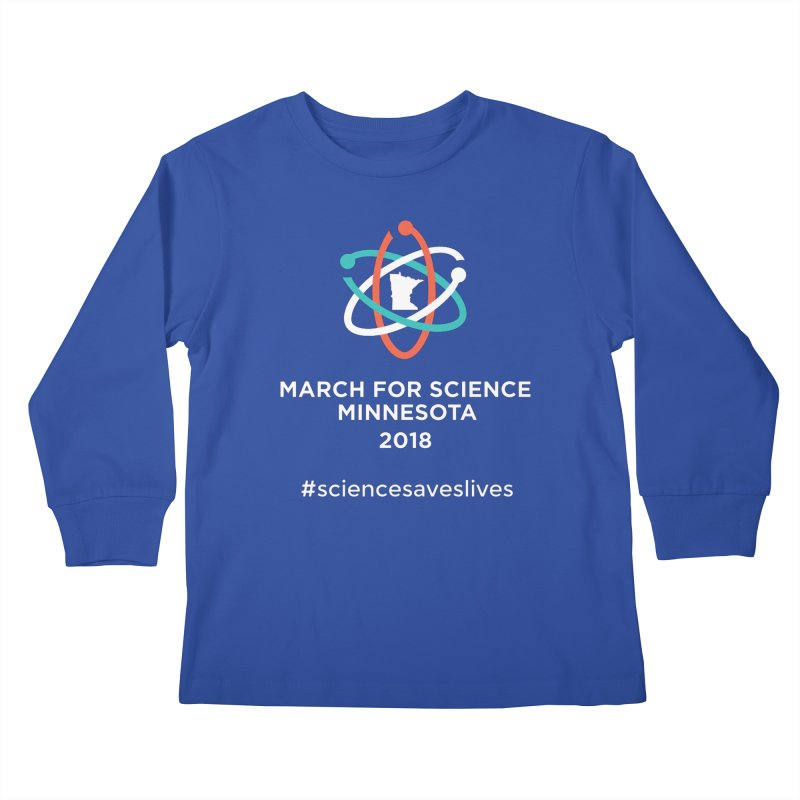 March for Science (Logo + Words) Kids Longsleeve T-Shirt by March for Science Minnesota Swag