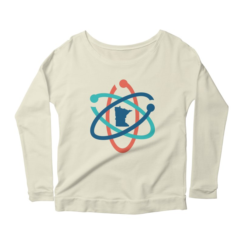 March for Science (no words) Women's Scoop Neck Longsleeve T-Shirt by March for Science Minnesota Swag