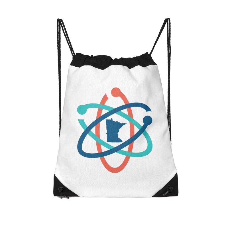March for Science (no words) Accessories Drawstring Bag Bag by March for Science Minnesota Swag