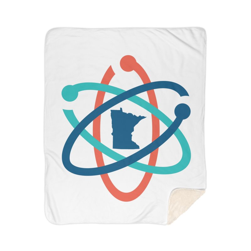 March for Science (no words) Home Sherpa Blanket Blanket by March for Science Minnesota Swag