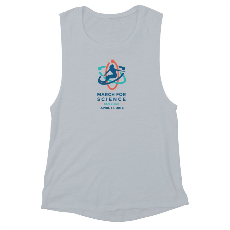 March for Science San Diego Official in Women's Muscle Tank Athletic Heather by marchforsciencesd's Artist Shop