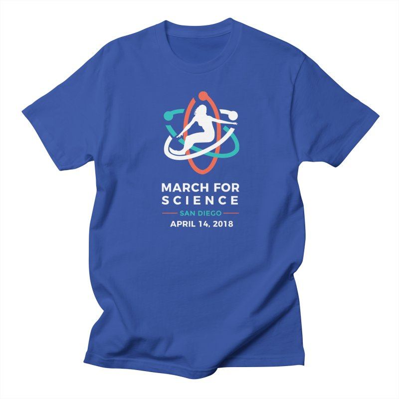 Official March for Science San Diego (Dark) in Men's Regular T-Shirt Royal Blue by marchforsciencesd's Artist Shop