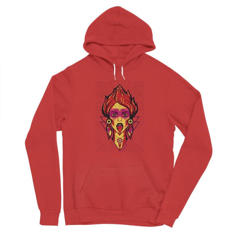 On Fire Women's Pullover Hoody by Marcial Artist Shop