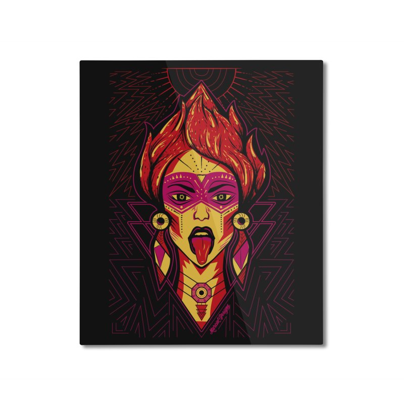 On Fire Home Mounted Aluminum Print by Marcial Artist Shop