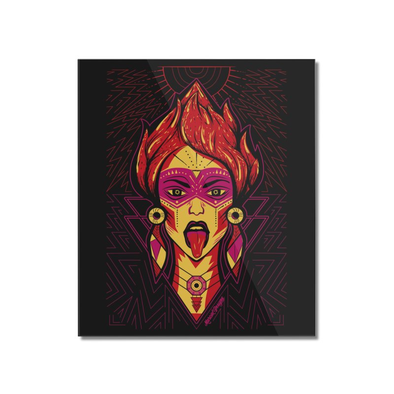 On Fire Home Mounted Acrylic Print by Marcial Artist Shop