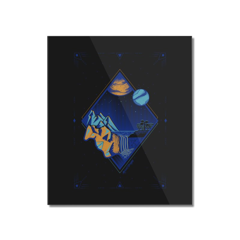 Imaginary world Home Mounted Acrylic Print by Marcial Artist Shop