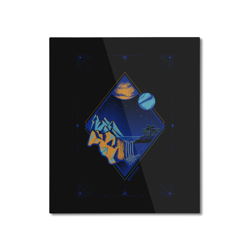 Imaginary world Home Mounted Aluminum Print by Marcial Artist Shop