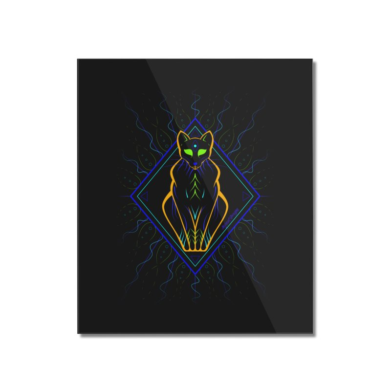 Feline Home Mounted Acrylic Print by Marcial Artist Shop