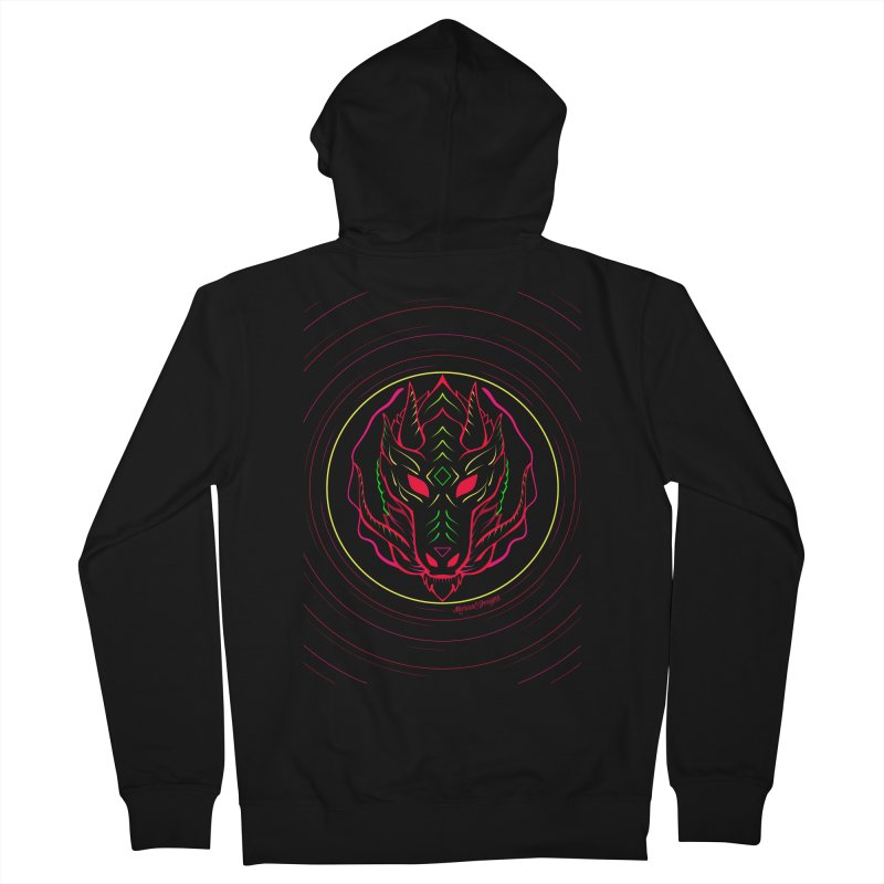 Dragon Men's Zip-Up Hoody by Marcial Artist Shop