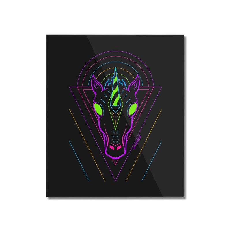 Unicorn Home Mounted Acrylic Print by Marcial Artist Shop