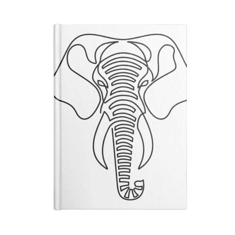 Minimalist Elephant (black on white) Accessories Notebook by Marci Brinker's Artist Shop