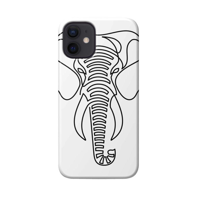 Minimalist Elephant (black on white) Accessories Phone Case by Marci Brinker's Artist Shop