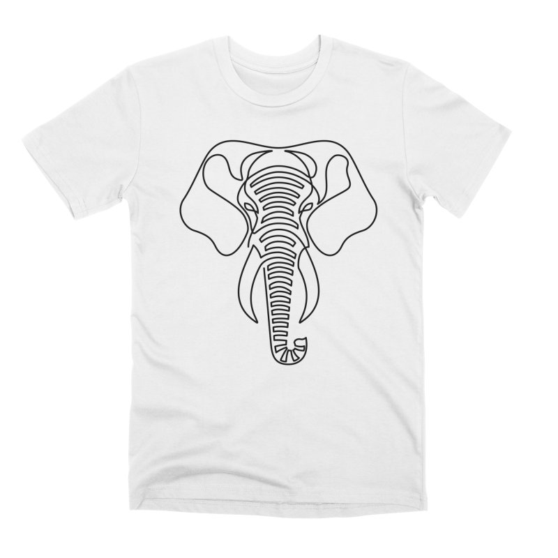 Minimalist Elephant (black on white) Men's Premium T-Shirt by Marci Brinker's Artist Shop