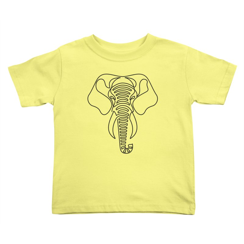 Minimalist Elephant (black on white) Kids Toddler T-Shirt by Marci Brinker's Artist Shop