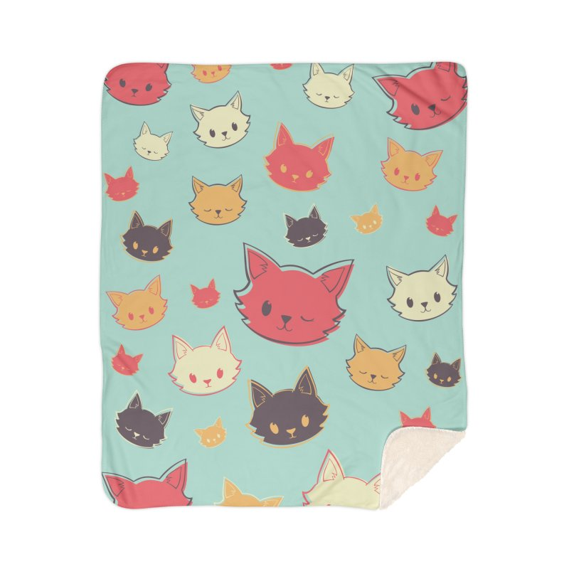 Kitty Wink Home Blanket by Marci Brinker's Artist Shop