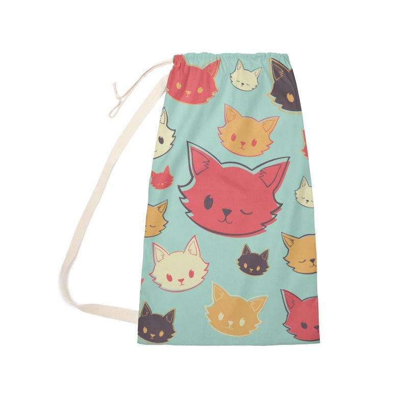 Kitty Wink Accessories Bag by Marci Brinker's Artist Shop