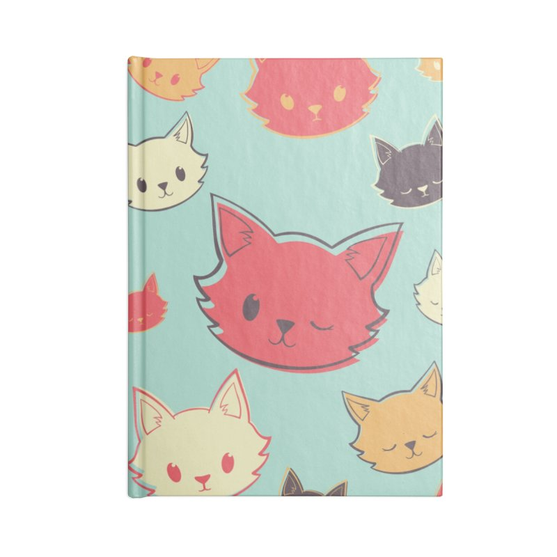 Kitty Wink Accessories Blank Journal Notebook by Marci Brinker's Artist Shop