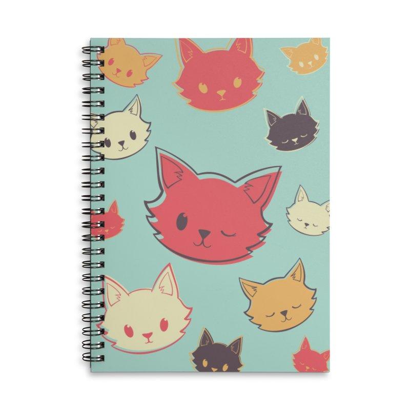 Kitty Wink Accessories Notebook by Marci Brinker's Artist Shop