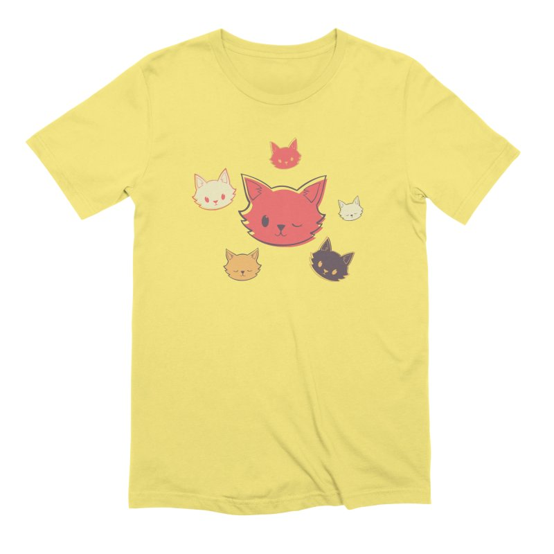 Kitty Wink Men's T-Shirt by Marci Brinker's Artist Shop