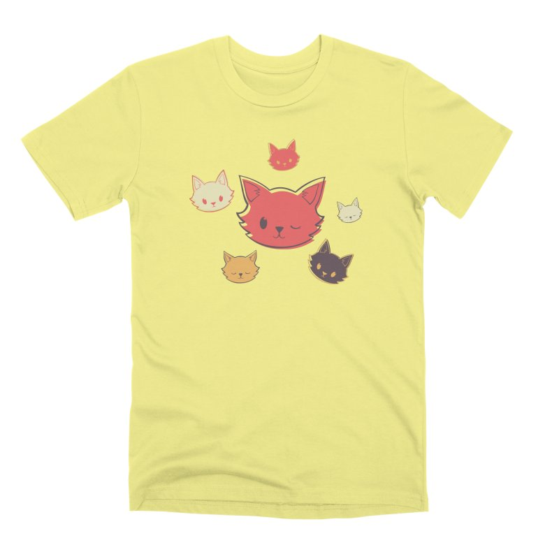 Kitty Wink Men's Premium T-Shirt by Marci Brinker's Artist Shop