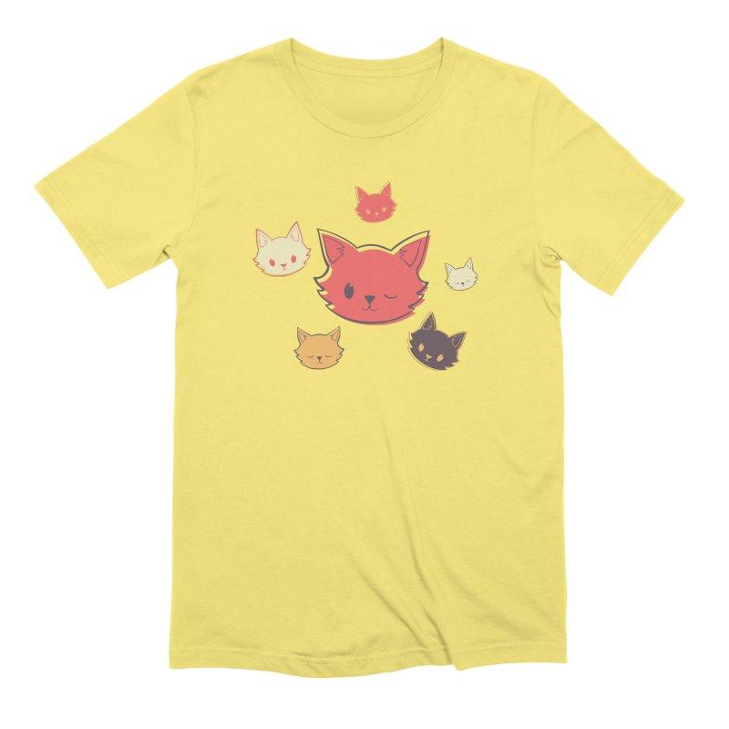 Kitty Wink Men's Extra Soft T-Shirt by Marci Brinker's Artist Shop