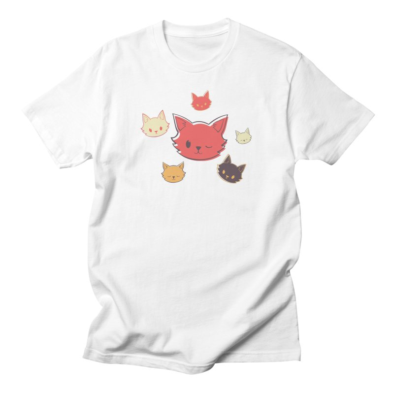 Kitty Wink Men's Regular T-Shirt by Marci Brinker's Artist Shop