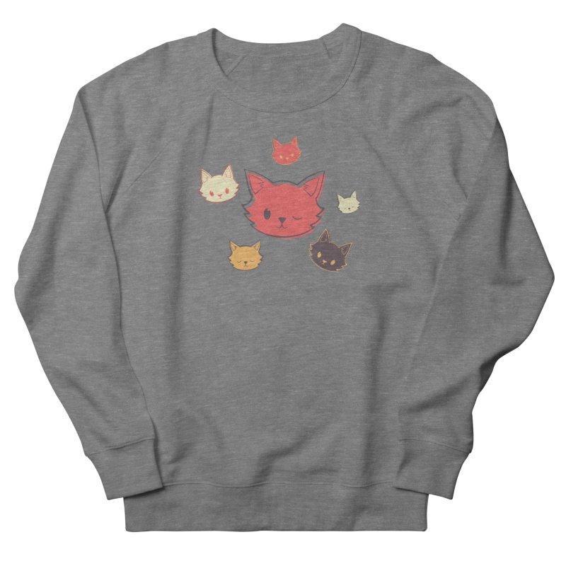 Kitty Wink Women's French Terry Sweatshirt by Marci Brinker's Artist Shop