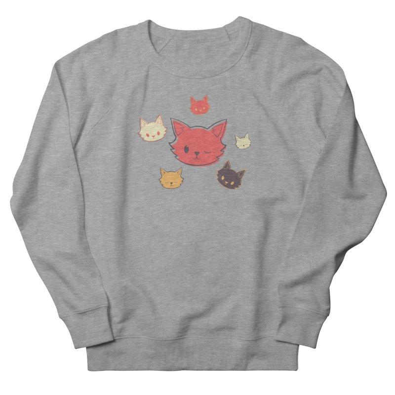Kitty Wink Men's Sweatshirt by Marci Brinker's Artist Shop