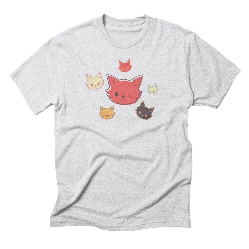 Kitty Wink Men's Triblend T-Shirt by Marci Brinker's Artist Shop