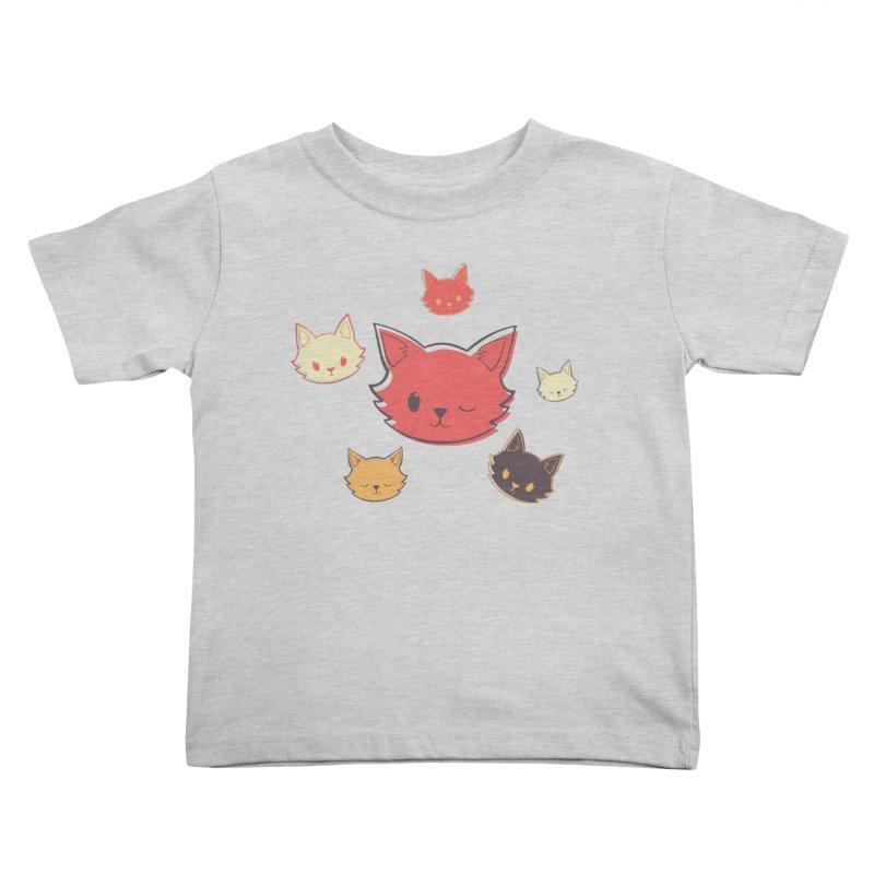 Kitty Wink Kids Toddler T-Shirt by Marci Brinker's Artist Shop