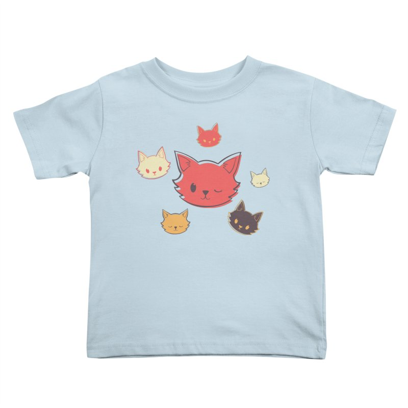 Kitty Wink Kids Toddler T-Shirt by Marci Brinker's Artist Shop