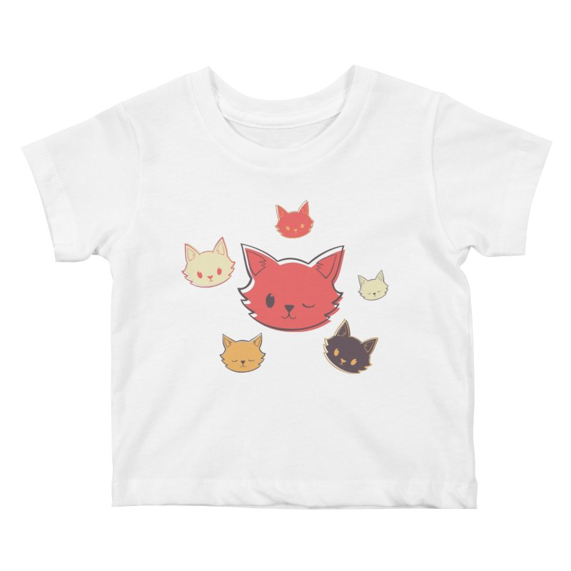 Kitty Wink Kids Baby T-Shirt by Marci Brinker's Artist Shop
